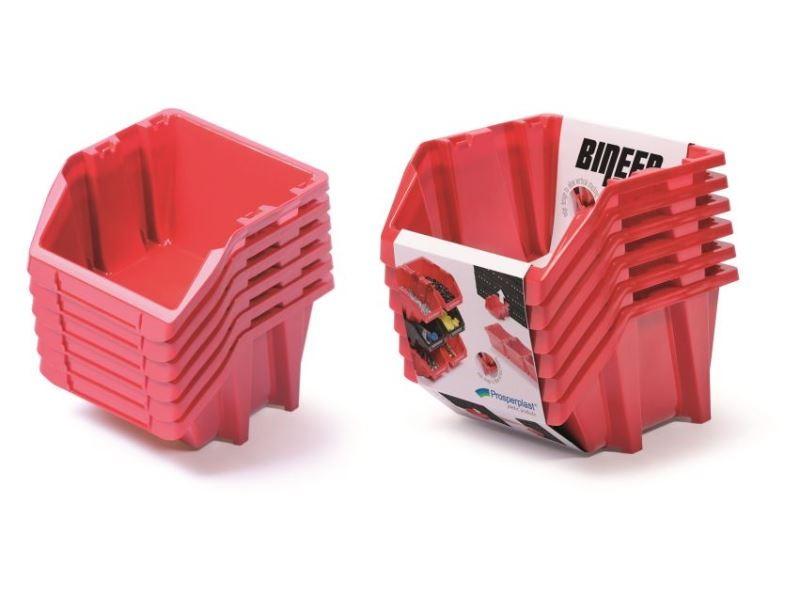 Set úložných boxů 6ks BINSHORT SET 214x198x238 červený
