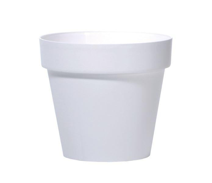 Květináč Cube Clear bílý