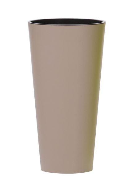 Květináč Tubus Slimmer světle hnědý matný
