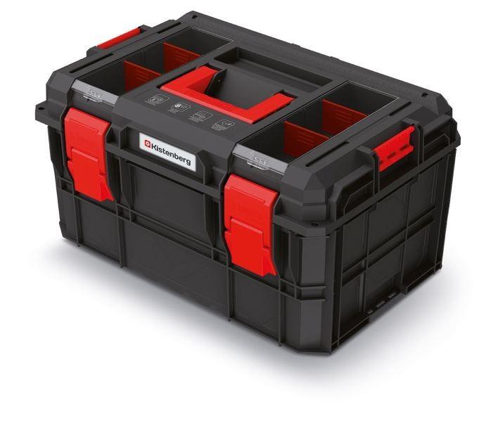 Kufr na nářadí X-BLOCK LOG 54,6x38x30,7 cm černo-červený