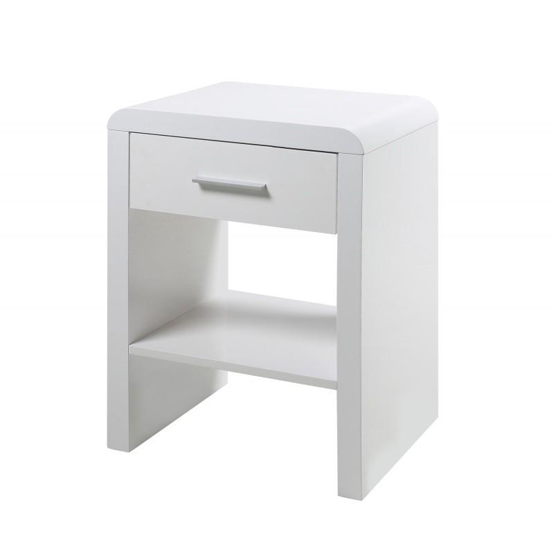 Noční stolek Tima bílý
