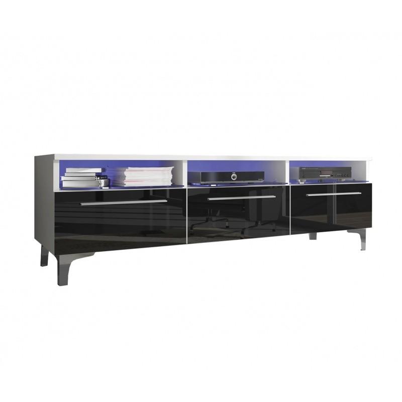 TV stolek Two RTV 150 cm bílý/černý