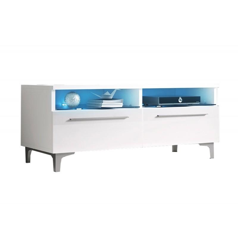 TV stolek Ive RTV 100 cm bílý lesk