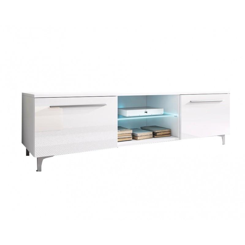 TV stolek Ive RTV 150 cm bílý lesk