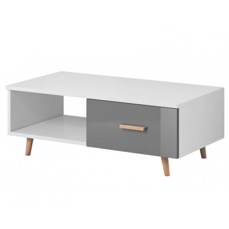 Konferenční stolek Nico XS 110 cm bílý/šedý