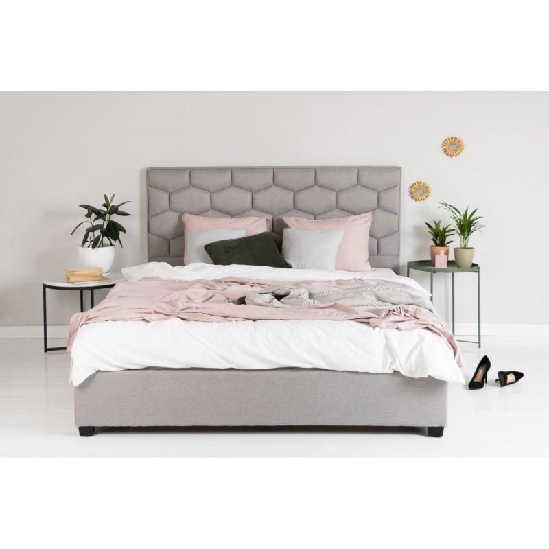 Čalouněná postel Honey 180x200 dvoulůžko - šedé