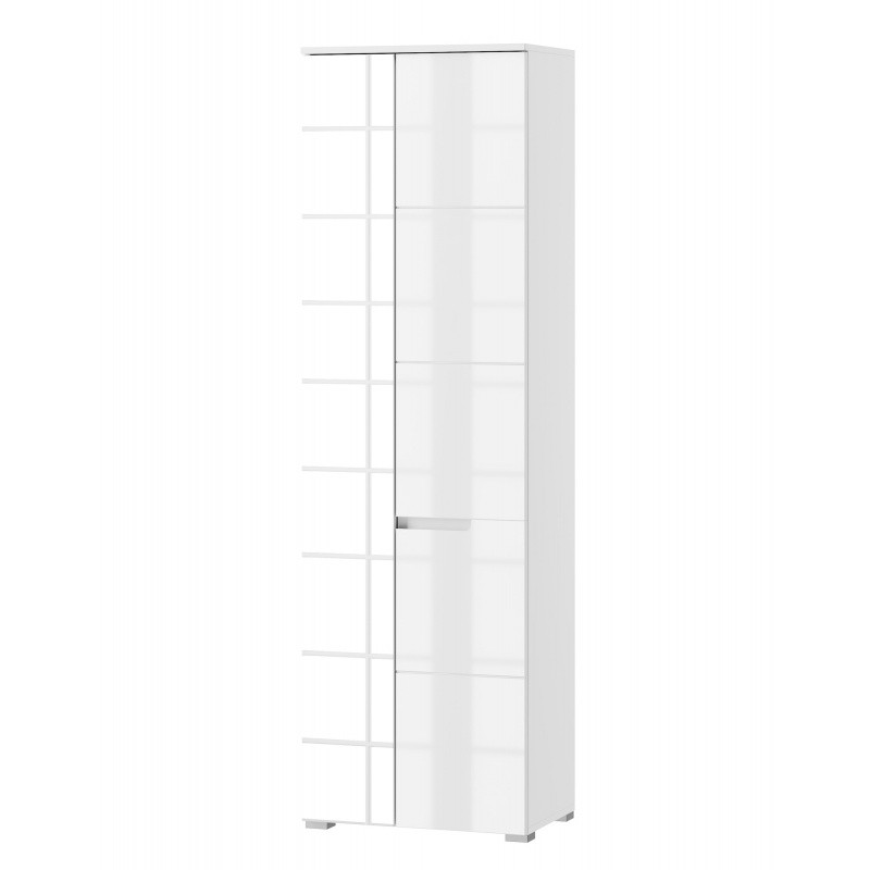 Šatní skříň se zrcadlem Selene 198 cm bílý lesk