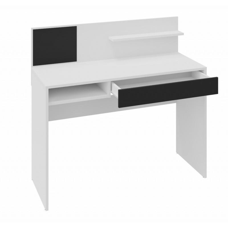 Psací stůl s magnetickou tabulí Magio 110 cm bílý/černý