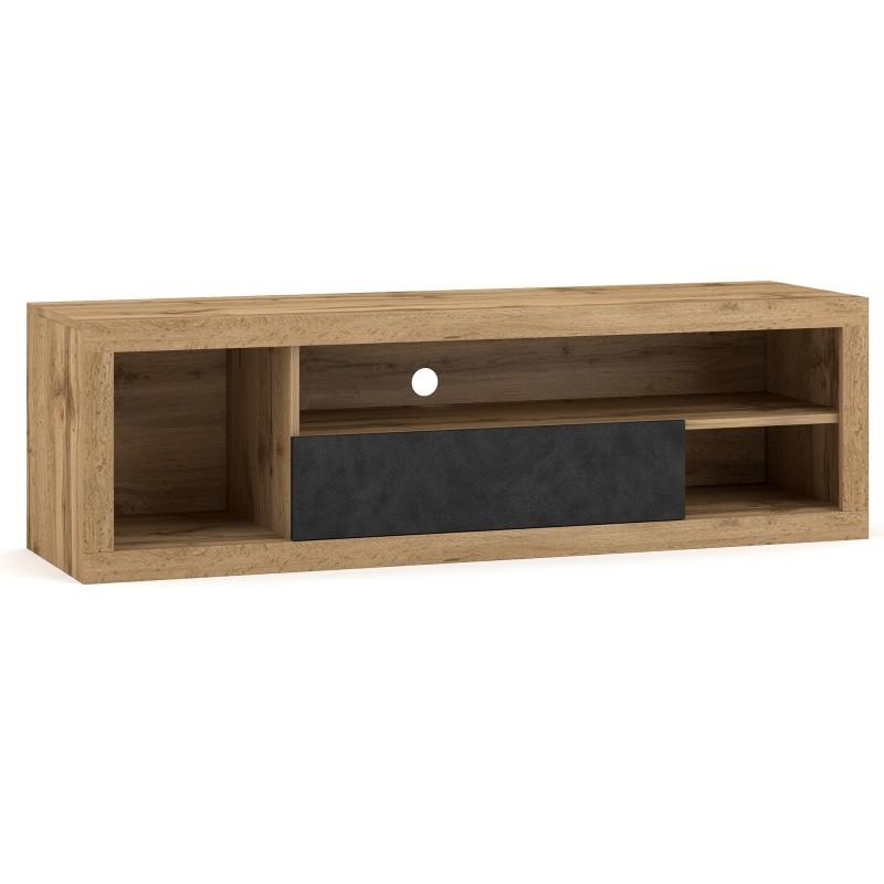 TV stolek Ever 140 cm dub wotan/šedý