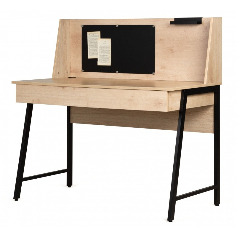 Psací stůl s magnetickou tabulí Relis dub sonoma/černý
