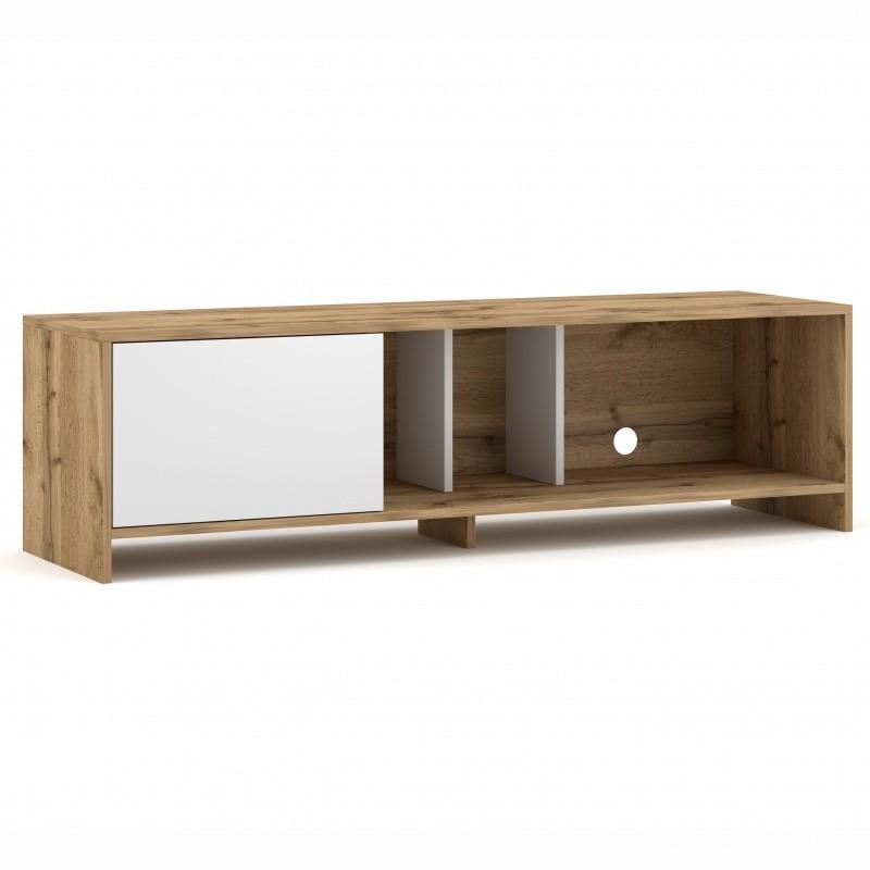 TV stolek Sue 140 cm dub wotan/bílý