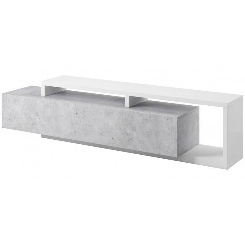 TV stolek Bota bílý/beton