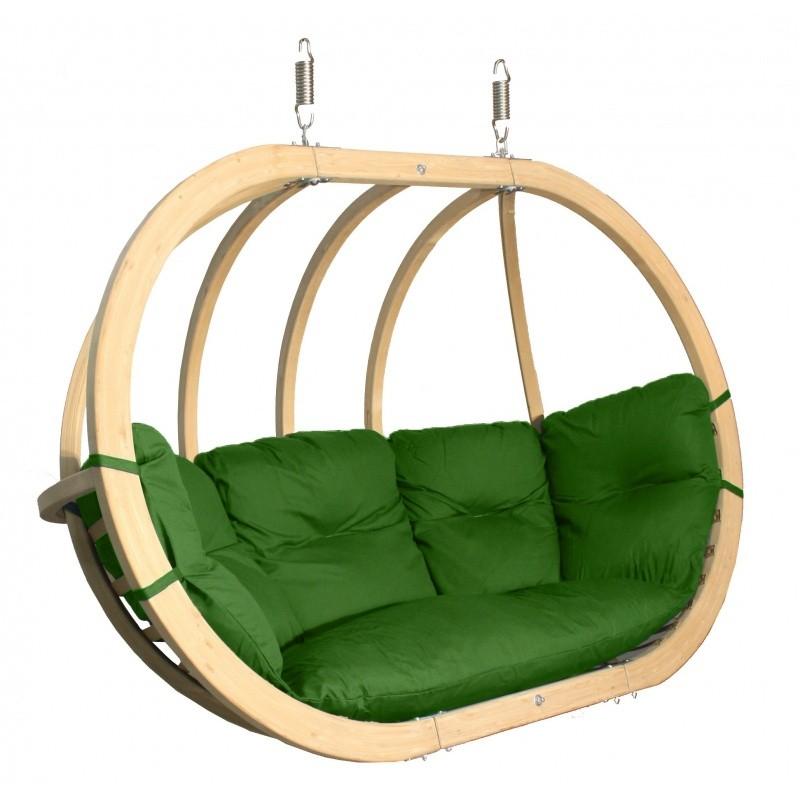 Dvojité závěsné houpací křeslo O-Zone Premier Swing Pod zelené