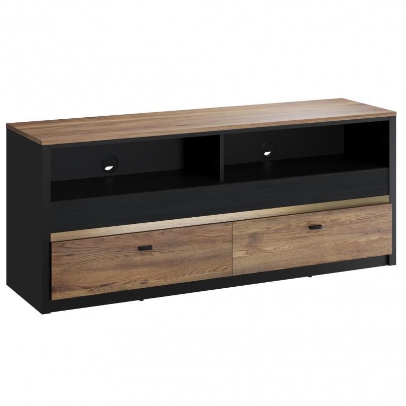 TV stolek Belize 150 cm černý/dub