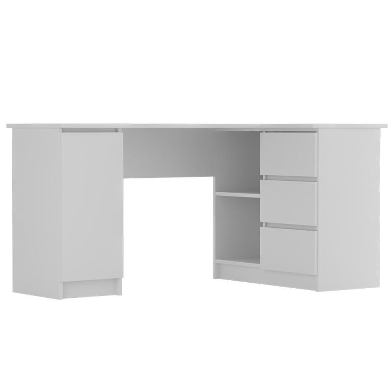 Rohový psací stůl Anna 155 cm bílý