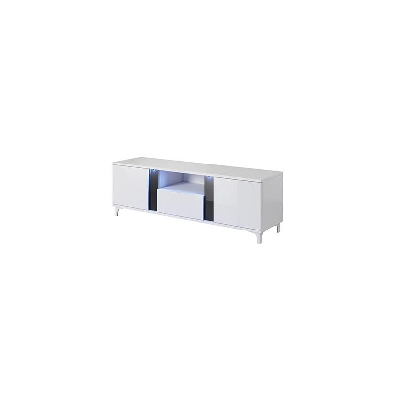TV stolek Cruz RTV 150 cm bílý/černý