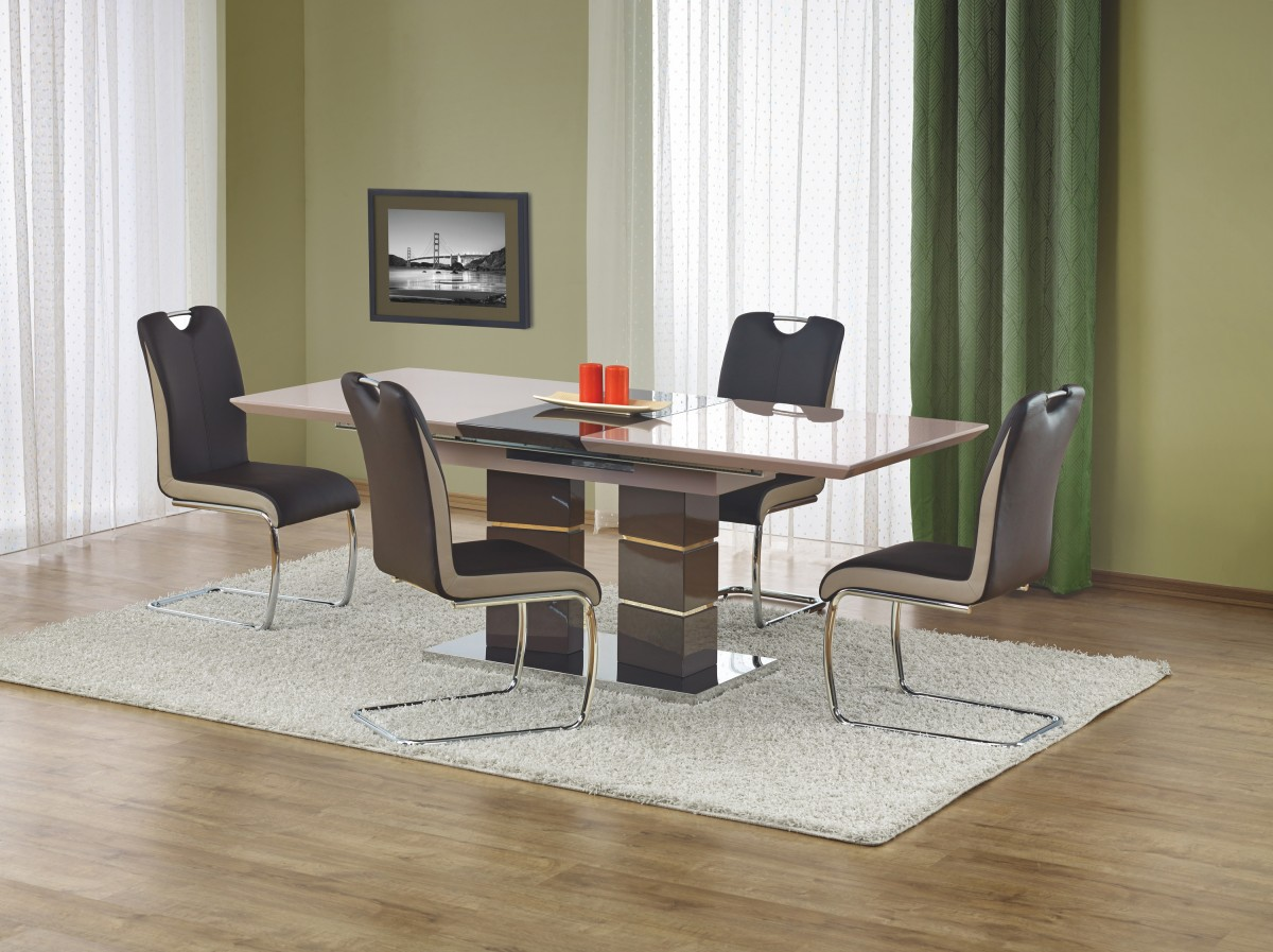 Rozkládací jídelní stůl Lord světle šedý/tmavě šedý