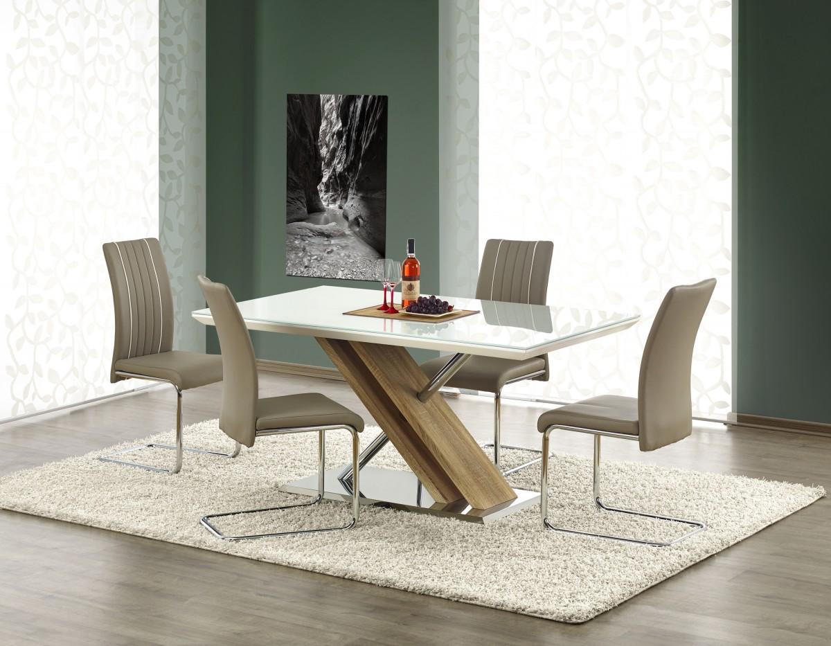 Jídelní stůl Nexus bílý/dub sonoma