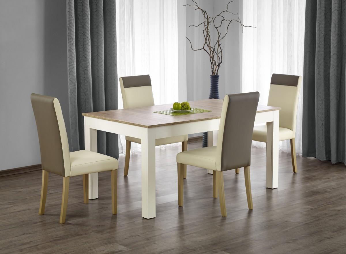 Rozkládací jídelní stůl Severo dub sonoma/bílá