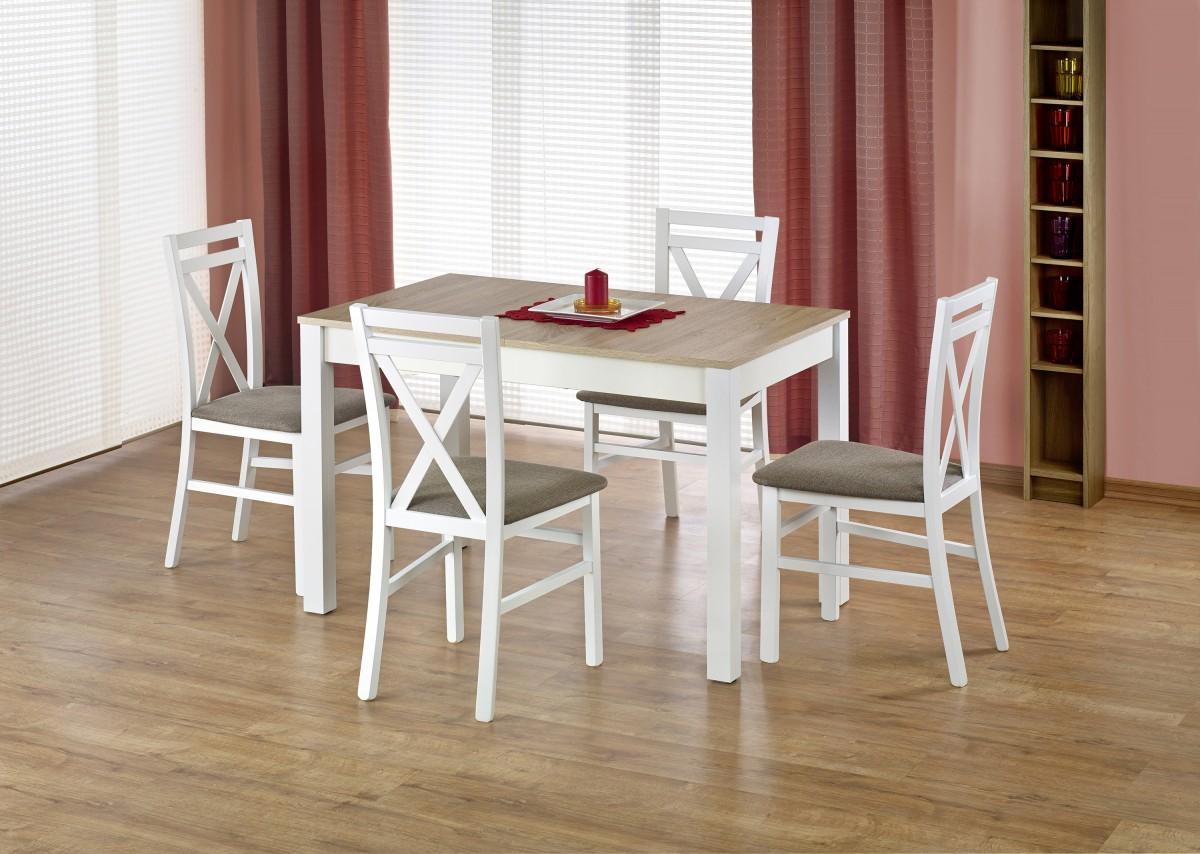 Rozkládací jídelní stůl Maurycy dub sonoma/bílá