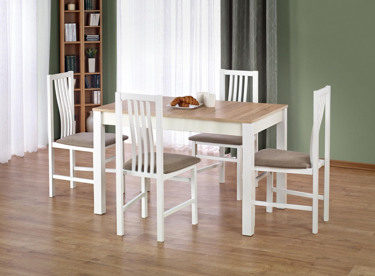 Jídelní stůl Ksawery dub sonoma/bílá