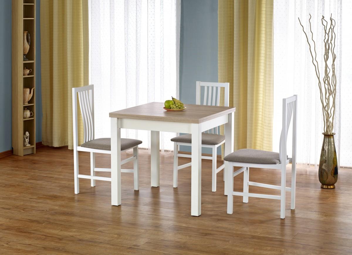 Rozkládací jídelní stůl Gracjan dub sonoma/bílá