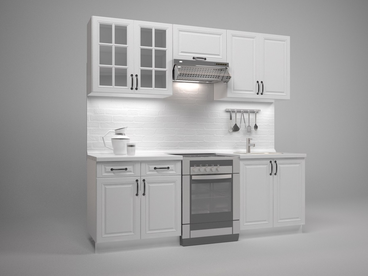 Kuchyňská linka Mikayla 220 cm bílá