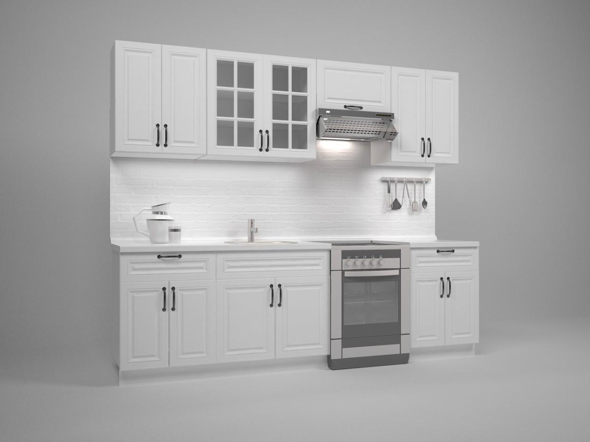 Kuchyňská linka Mikayla 260 cm bílá