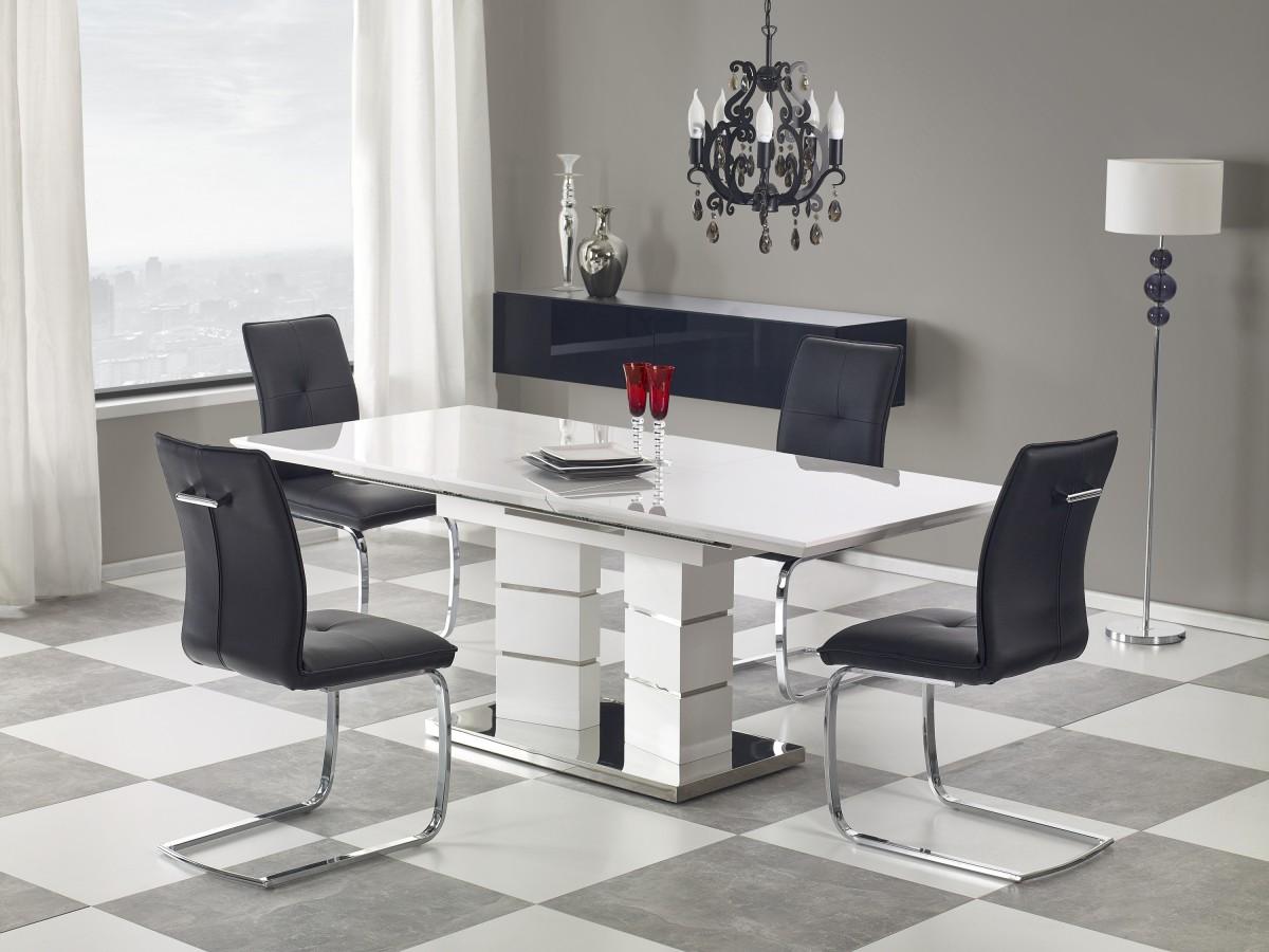 Rozkládací jídelní stůl Lord bílý