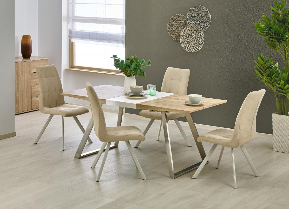 Rozkládací jídelní stůl Voren dub sonoma/bílý