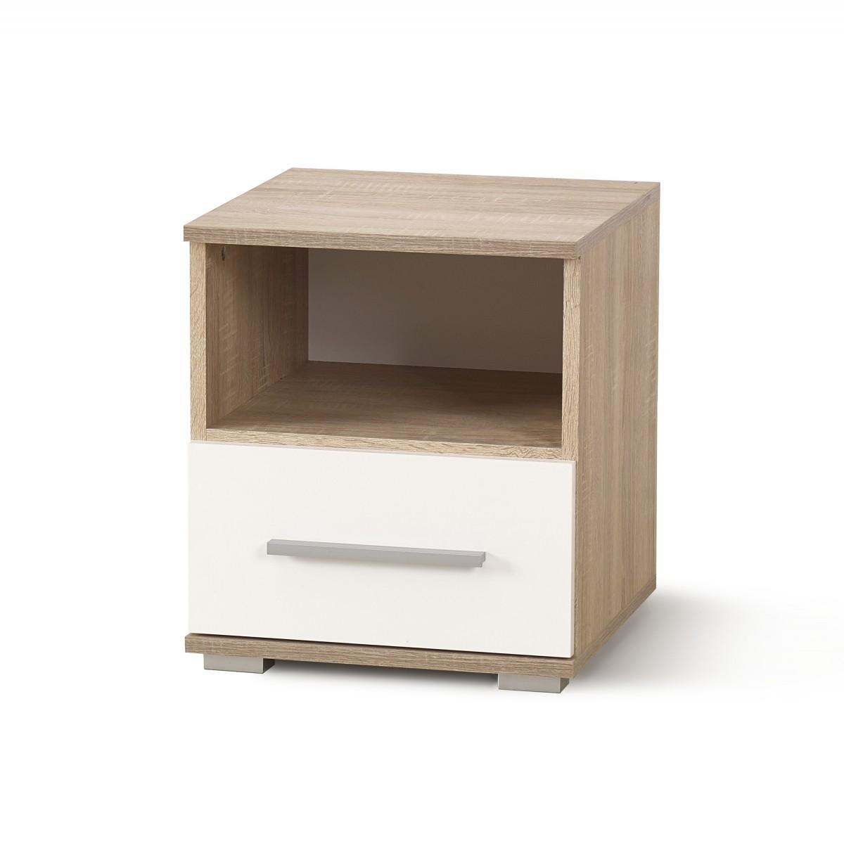Noční stolek Mano dub sonoma/bílý