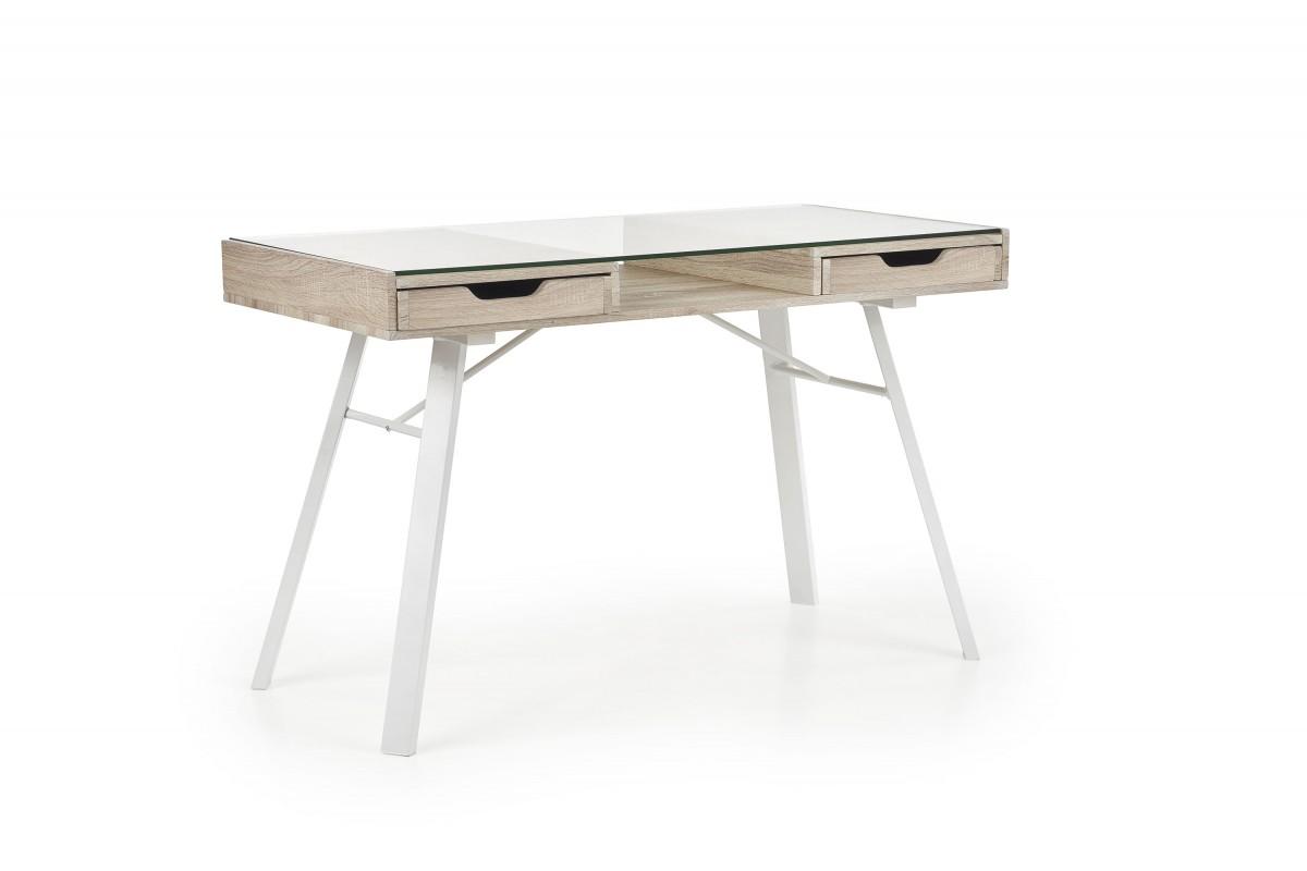 Psací stůl B33 dub sonoma/bílý