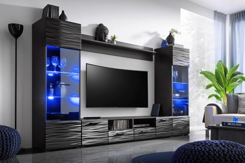 Obývací stěna Monica sahara černá