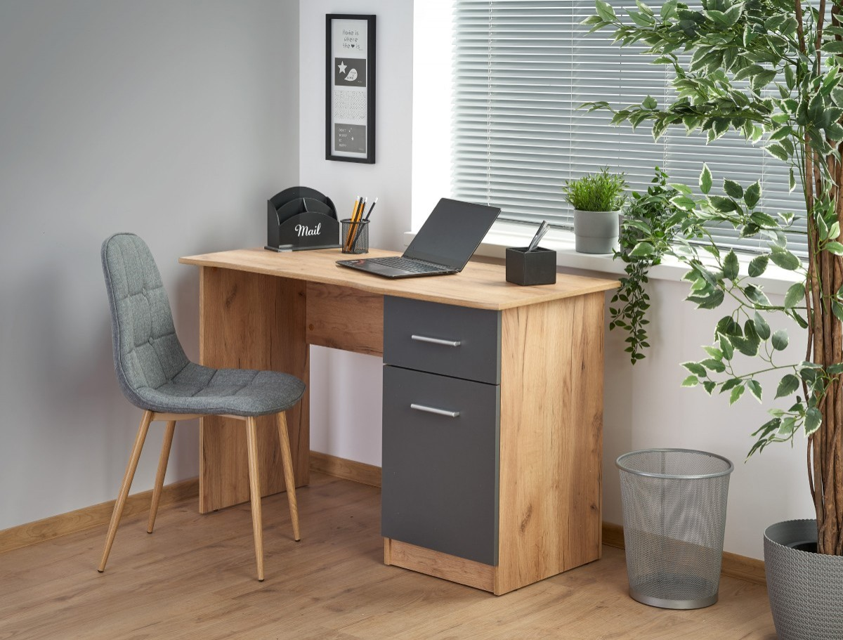 Psací stůl Elmo dub wotan/antracit
