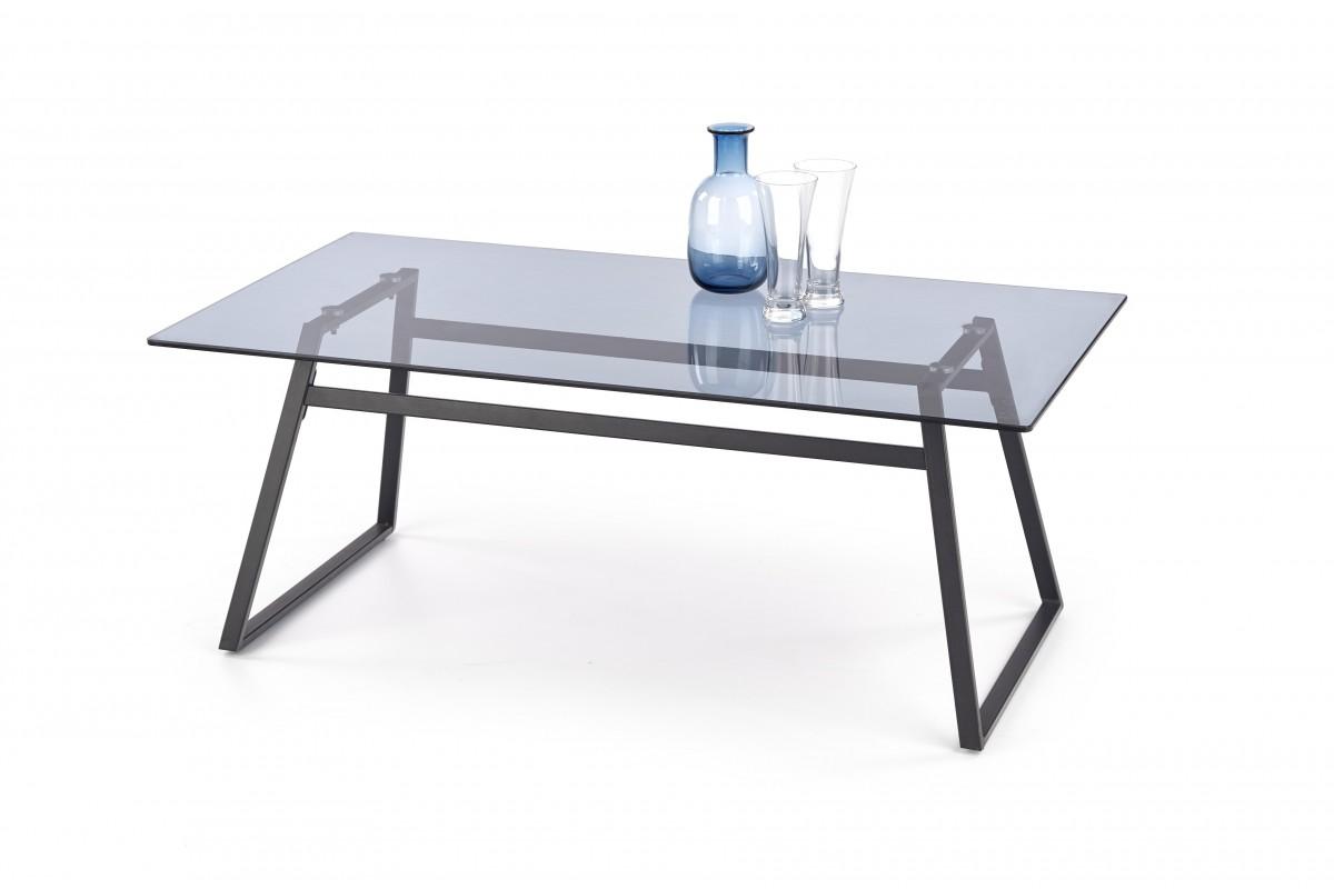 Konferenční stolek Nebula kouřové sklo/černá