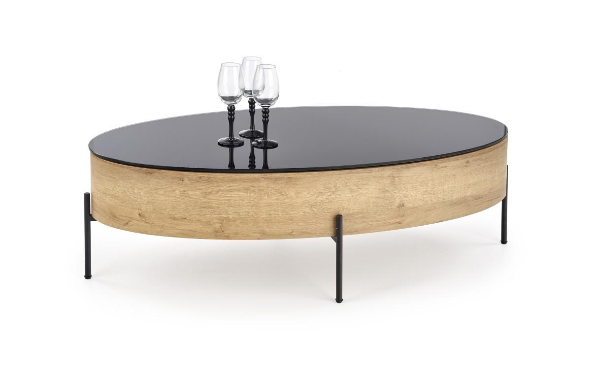 Konferenční stolek Zinga černá/dub zlatý