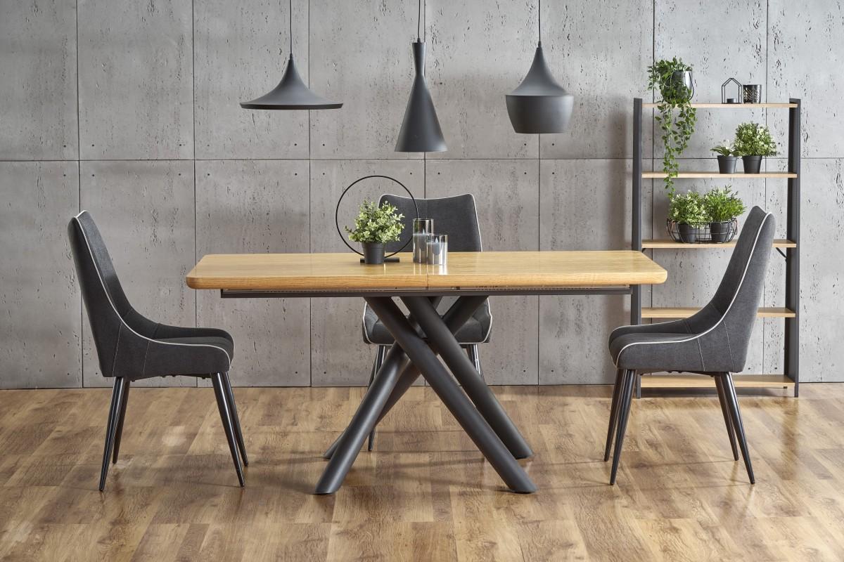 Rozkládací jídelní stůl Derren přírodní dub