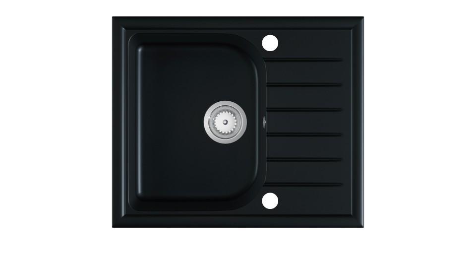 Kuchyňský dřez ALARIC černý granit