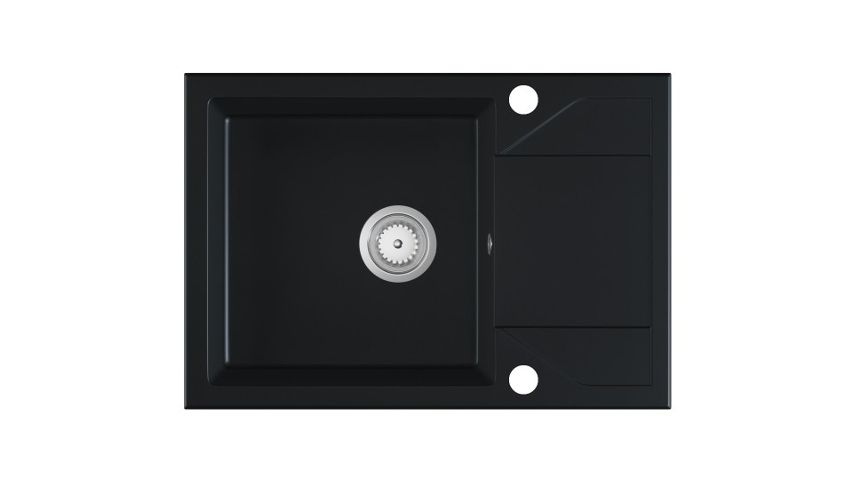 Kuchyňský dřez ADRIANA černý granit
