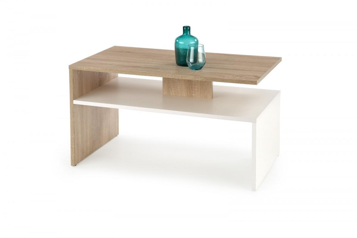Konferenční stolek Sigma dub sonoma / bílý