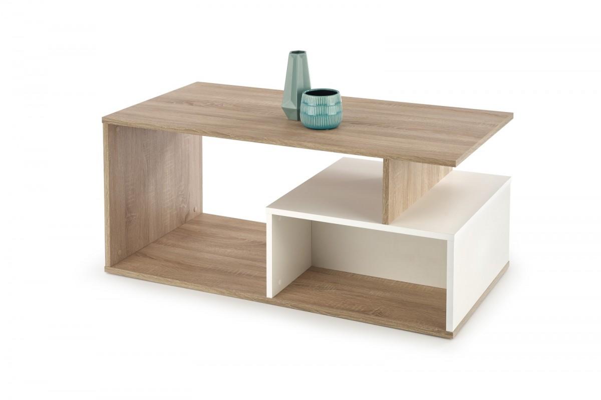 Konferenčný stolík Combo dub sonoma / biely