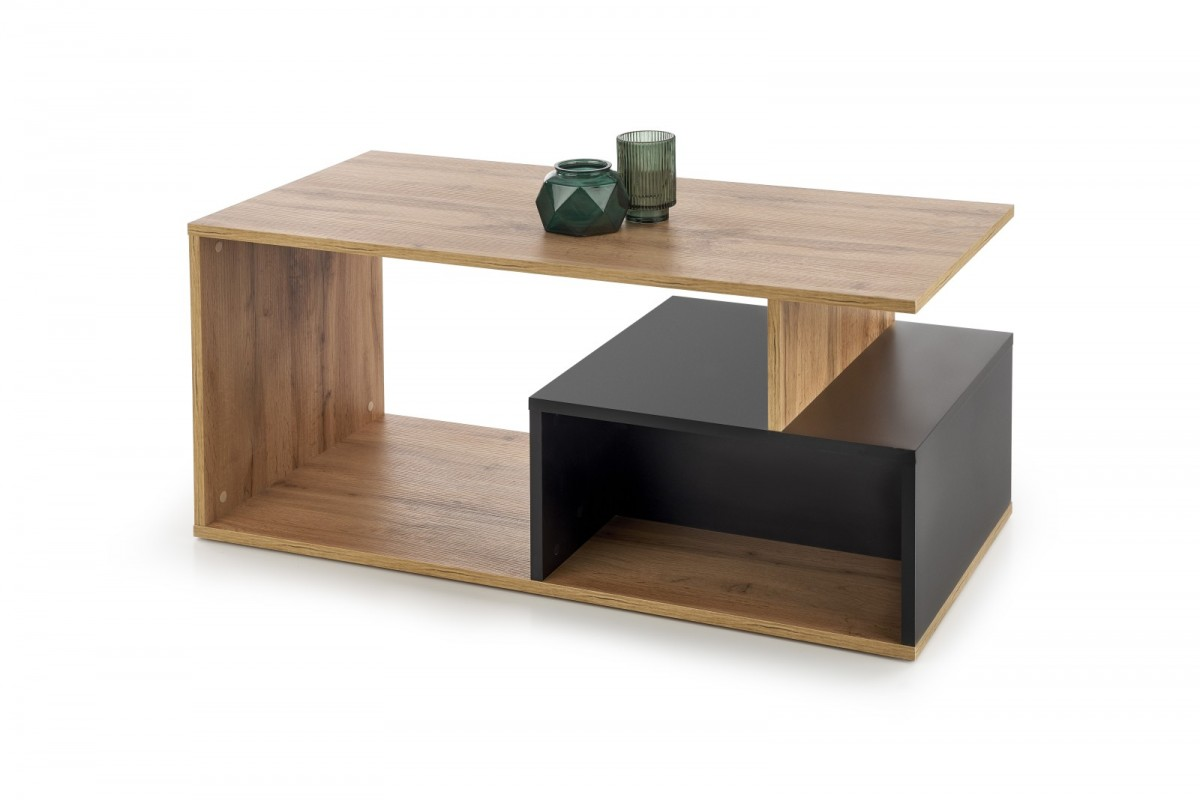 Konferenčný stolík Combo dub votan / čierny