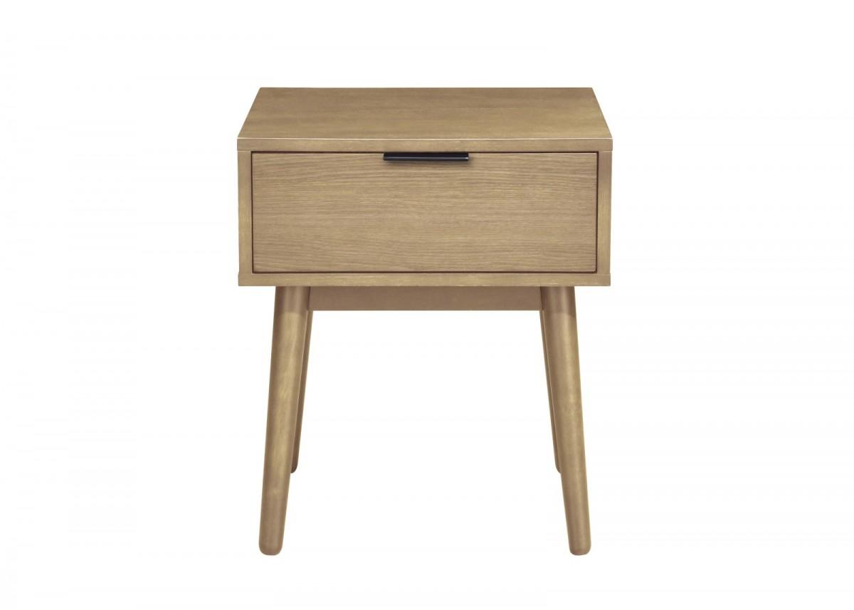 Noční stolek Cassia přírodní dřevo