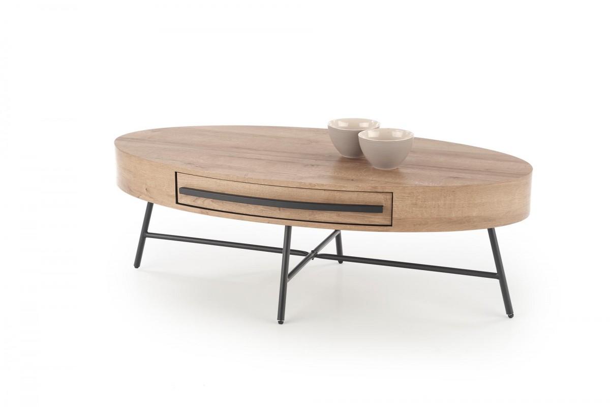 Konferenční stolek Carolla dub zlatý/černá