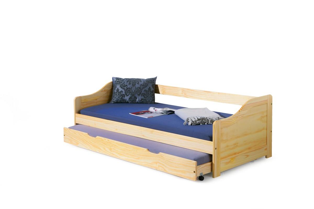 Dřevěná postel s přistýlkou Laura 90x200 borovice