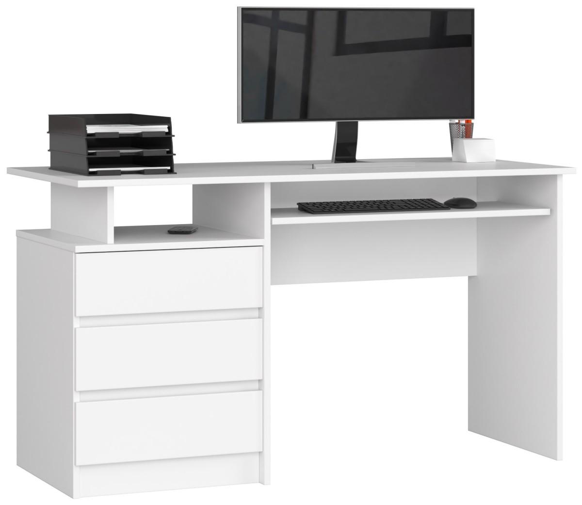 Psací stůl CLP 135 cm bílý