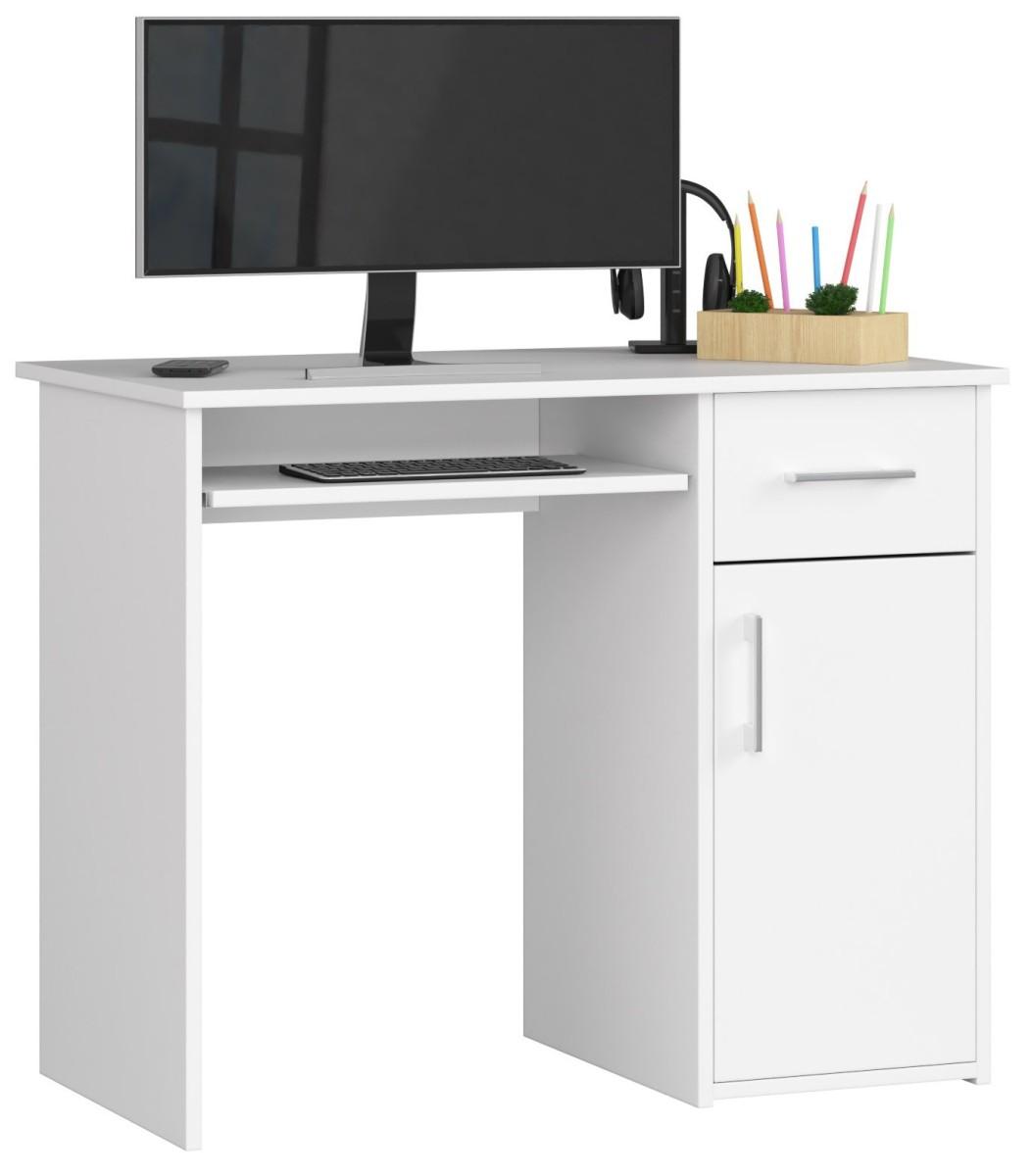 Psací stůl Pin 90 cm bílý