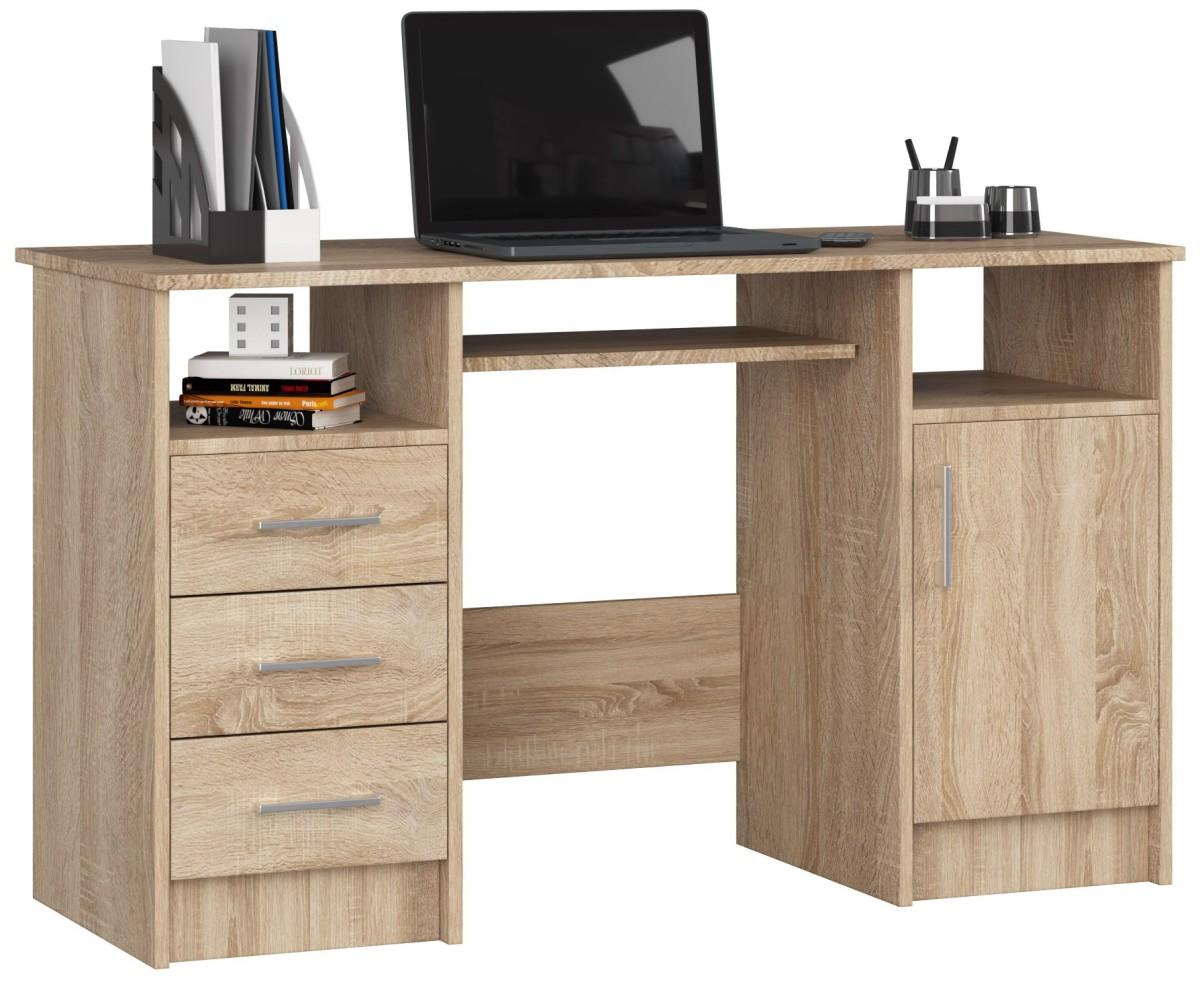 Písací stôl Ana 124 cm dub sonoma