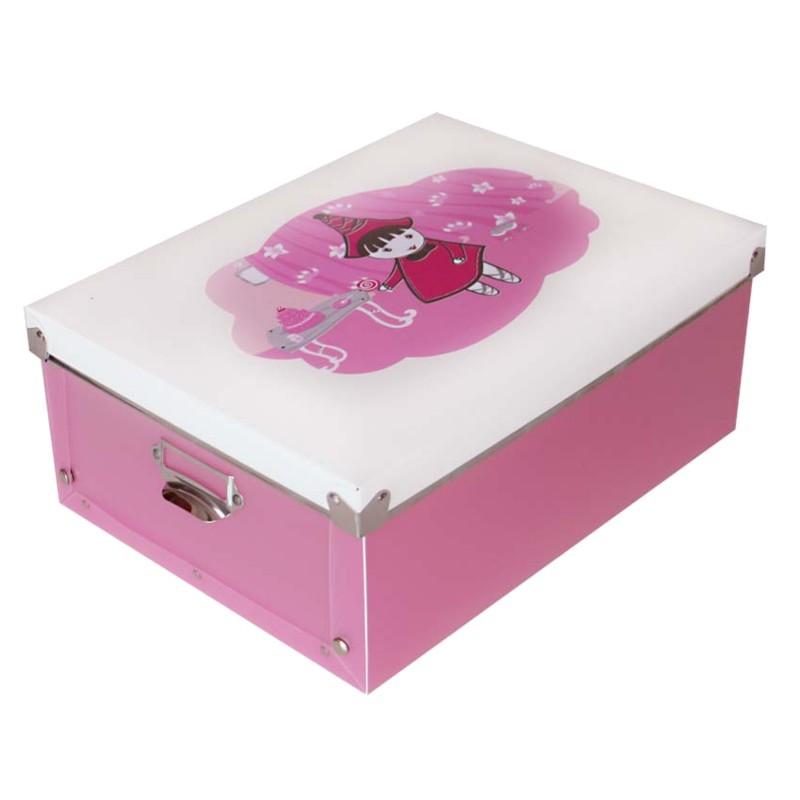 Úložný box pre deti A4 - ružový