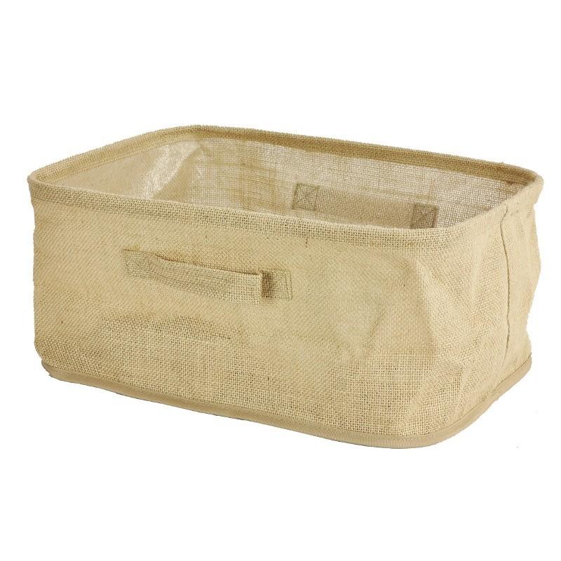 Lněný koš na prádlo 40x30x18 cm